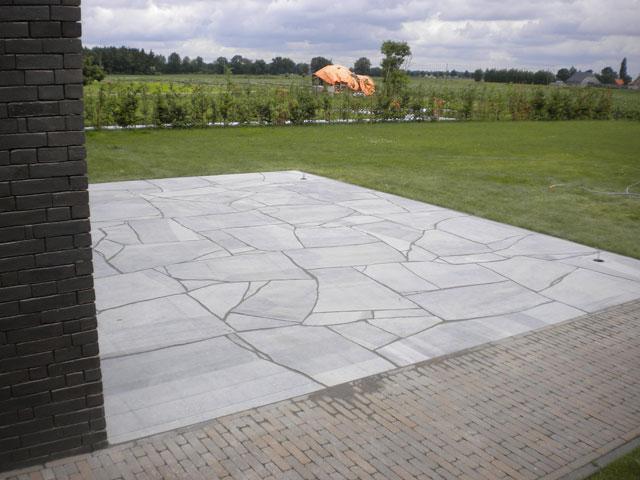 Terras laten aanleggen jan van den bulck essen - Foto sluit een overdekt terras ...